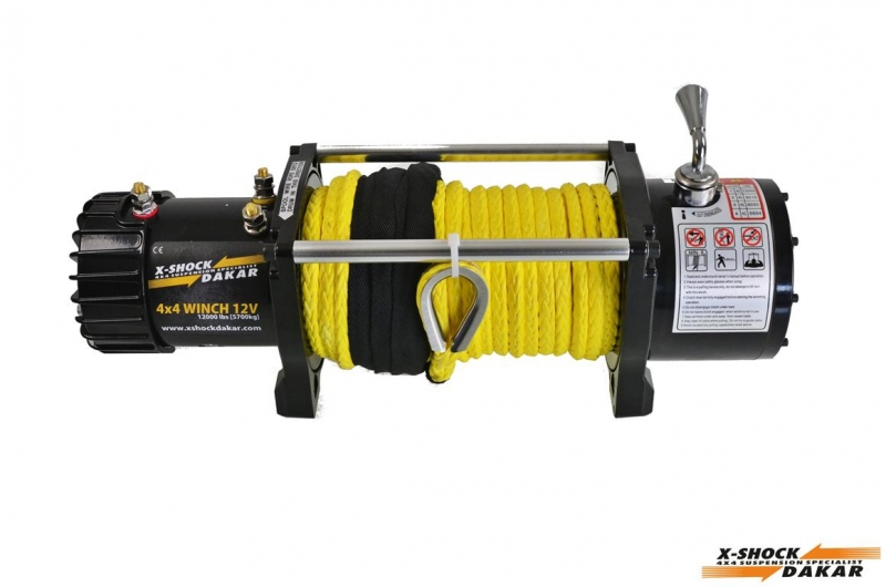 12000lbs electric winch with plastic rope