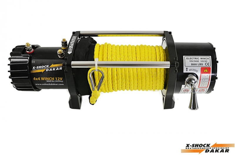8000lbs winch with plastic rope